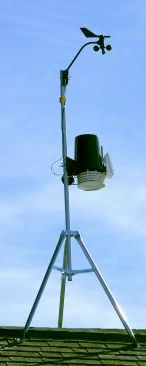 Weather station atop roof
